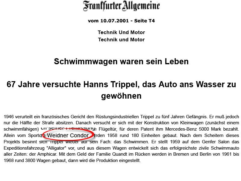 Hanns Trippel – Vom Wasserauto zum Sport Coupé